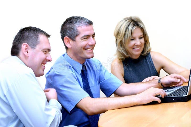 Gente di affari - passare in rassegna WWW 2 fotografia stock