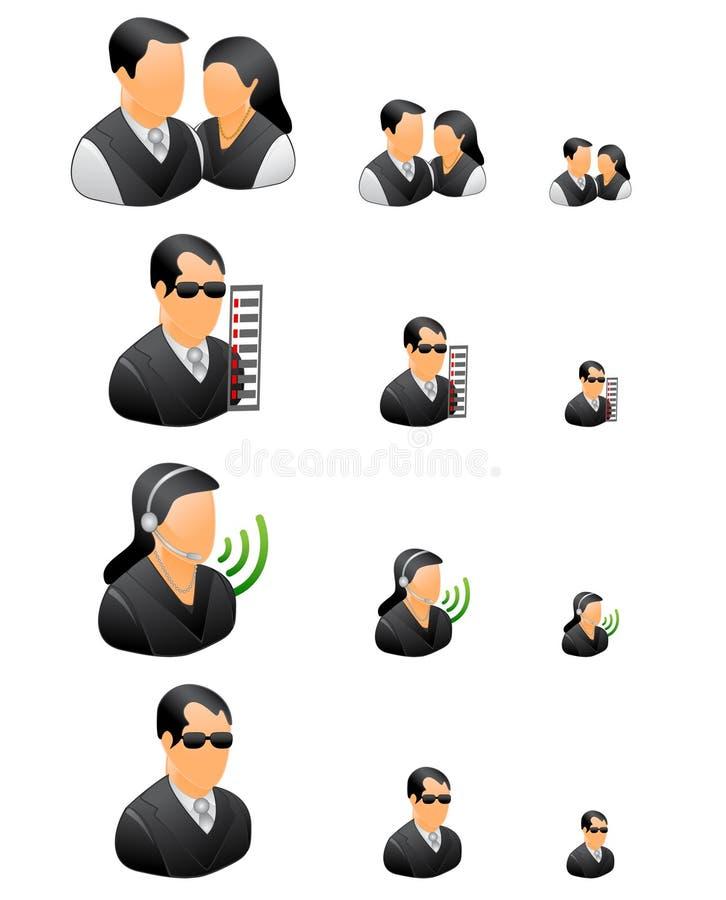 Gente di affari professionale dell'insieme dell'icona illustrazione vettoriale