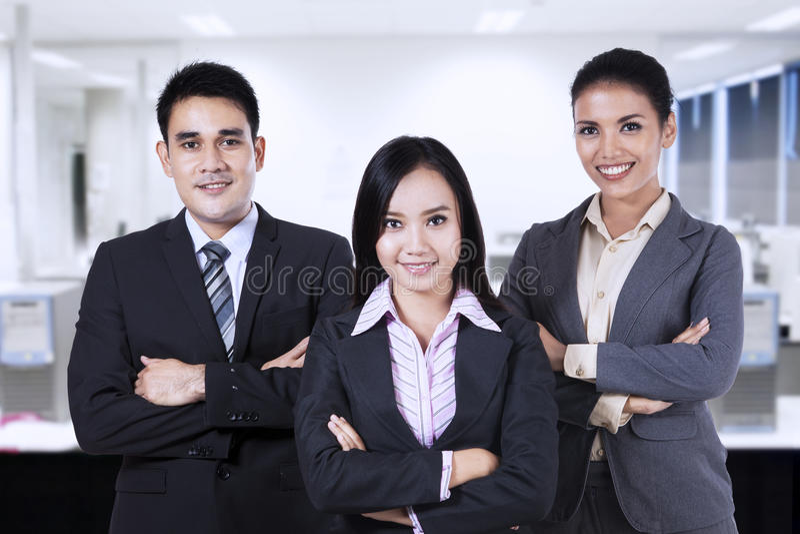 Gente di affari sicura 1 fotografia stock libera da diritti