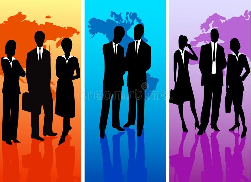 Gente di affari - siluetta di vettore royalty illustrazione gratis