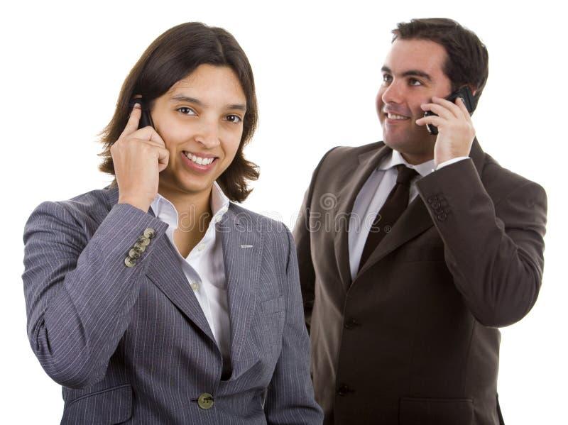 Gente di affari sorridente immagini stock libere da diritti