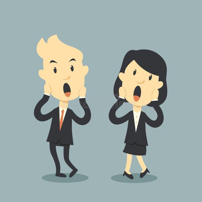 Gente di affari spaventosa royalty illustrazione gratis