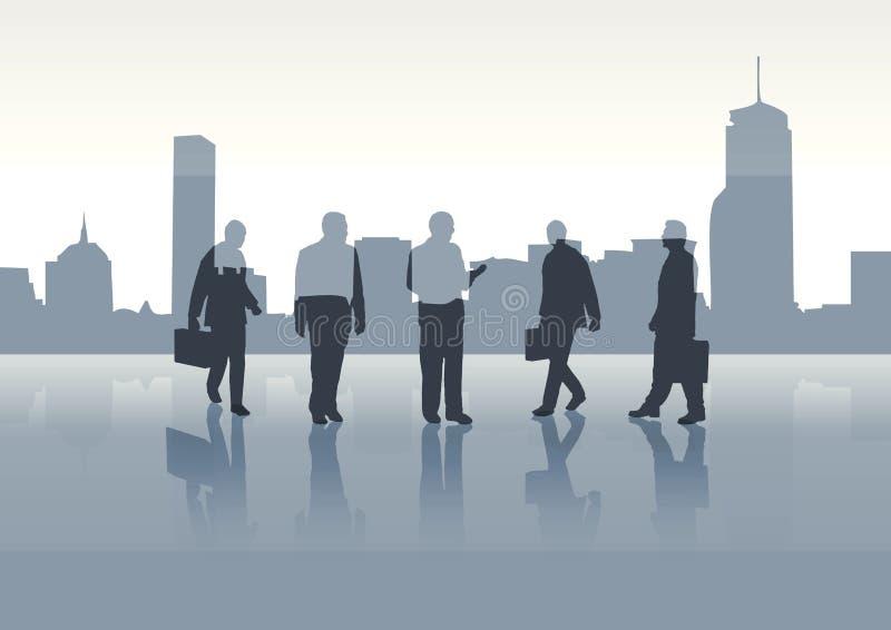 Gente di affari su priorità bassa illustrazione vettoriale