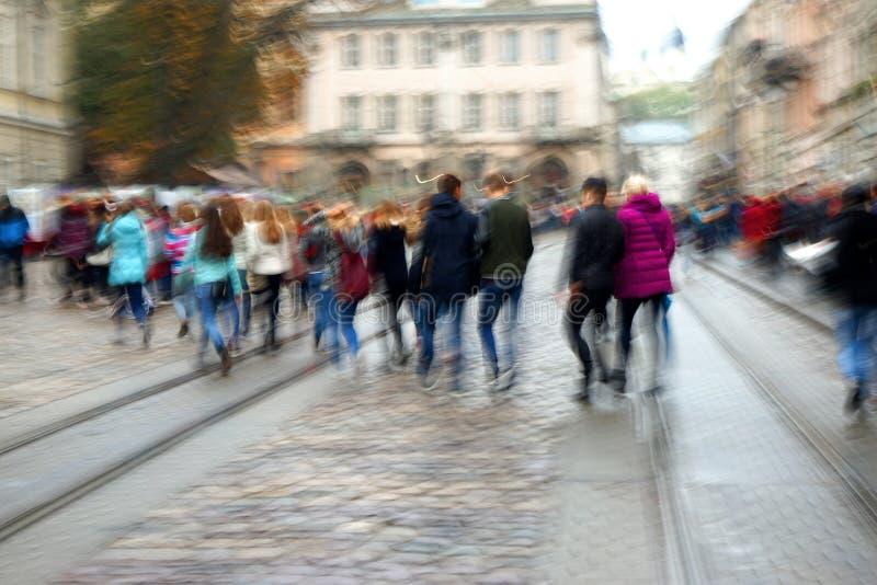 Gente di città occupata fotografie stock libere da diritti