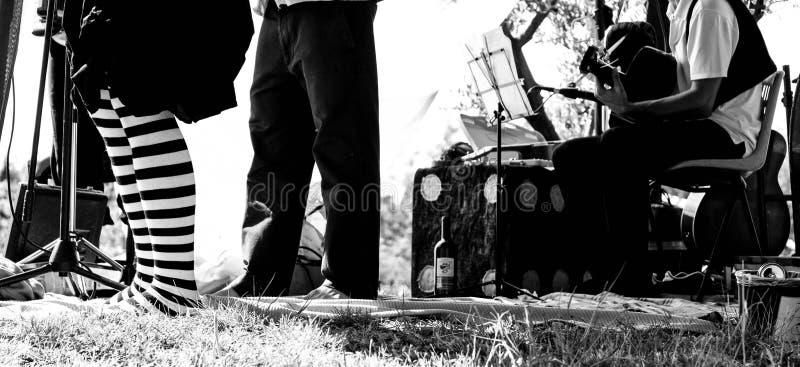 Gente di festival di musica fotografia stock libera da diritti