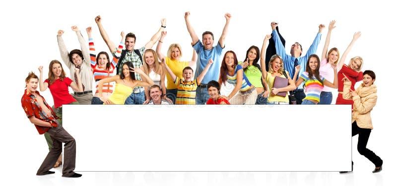 Gente divertente felice fotografie stock libere da diritti