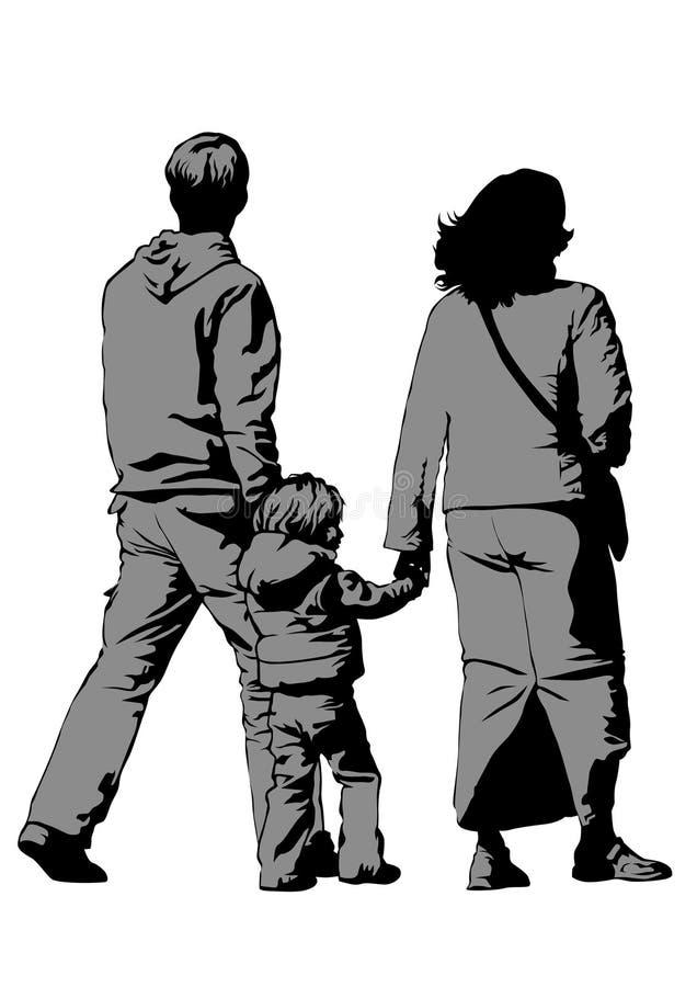 Gente dos de Famely ilustración del vector
