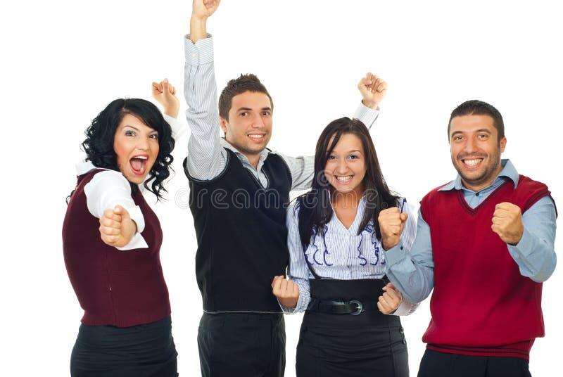 Gente emocionada de los ganadores fotografía de archivo