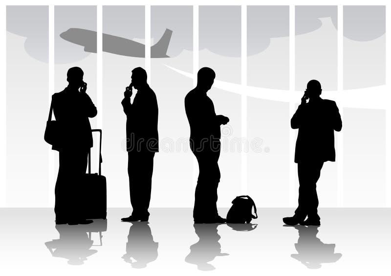 Gente en aeropuerto ilustración del vector