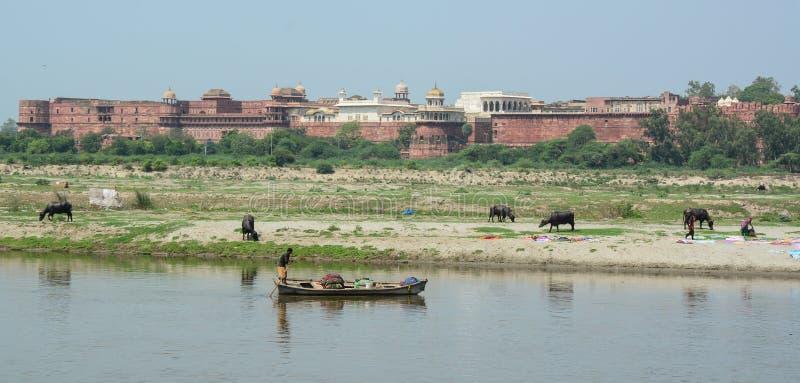 Gente en Agra, la India fotos de archivo