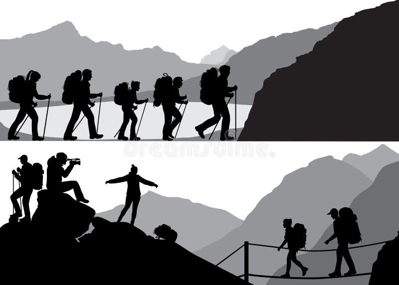 Gente en alza stock de ilustración