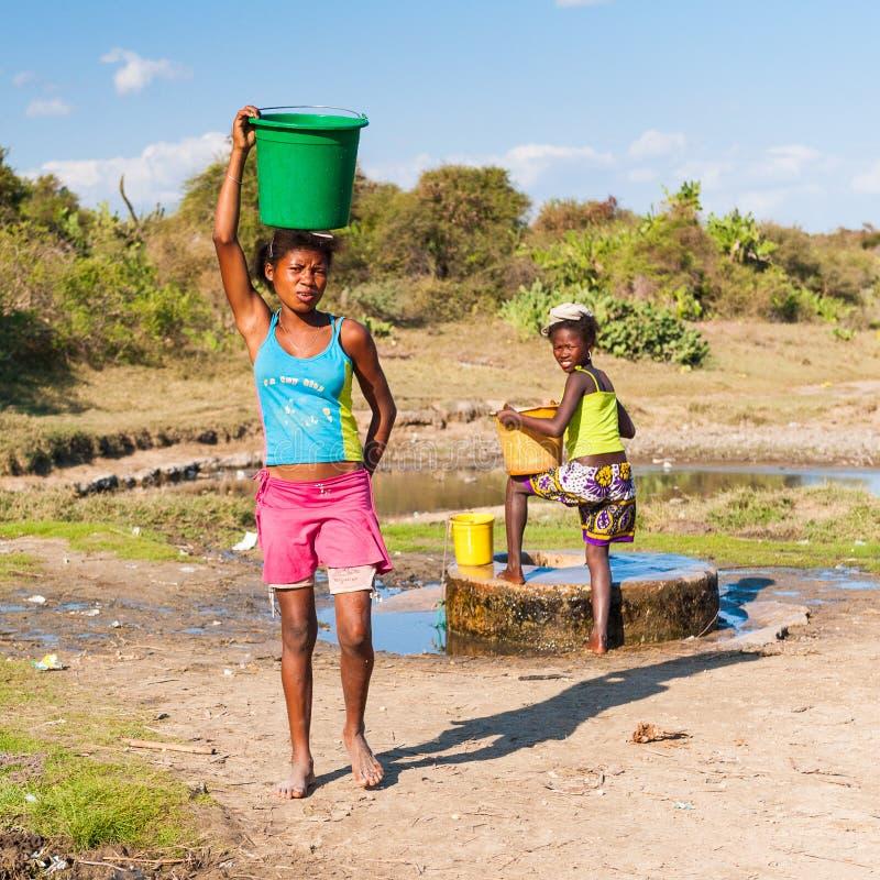 Gente en ANTANANARIVO, MADAGASCAR imagen de archivo
