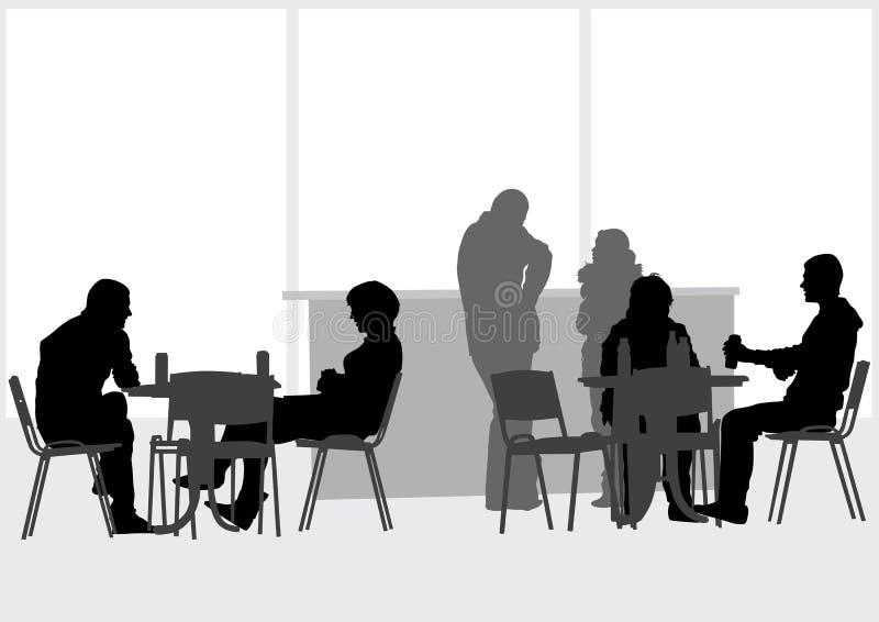 Gente en cafés ilustración del vector