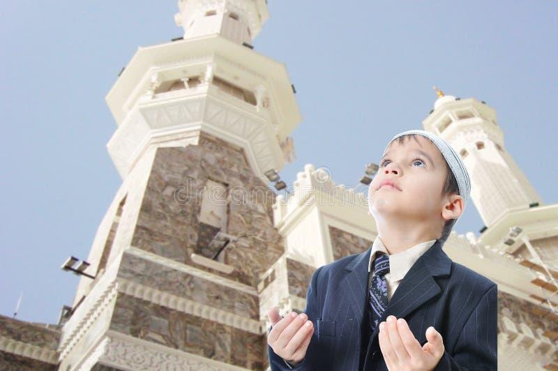 Gente en deber islámico santo en Makka imagen de archivo libre de regalías