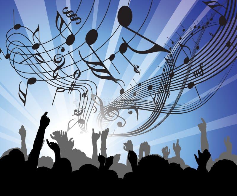 Gente en el concierto ilustración del vector