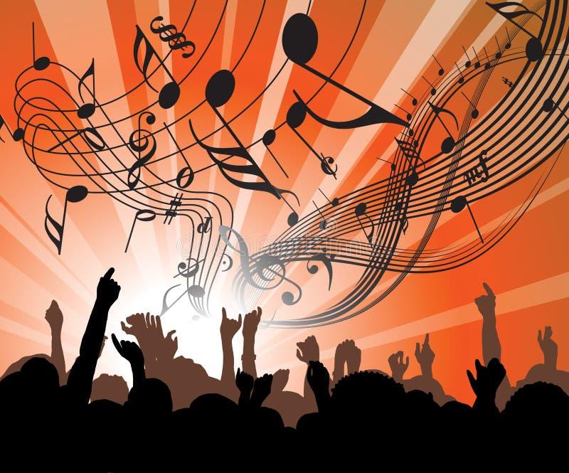 Gente en el concierto libre illustration