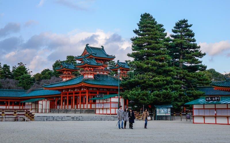 Gente en el condado en Kyoto, Japón imagenes de archivo