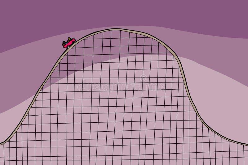 Gente en el roller coaster ilustración del vector