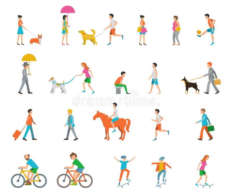 Gente en la calle stock de ilustración