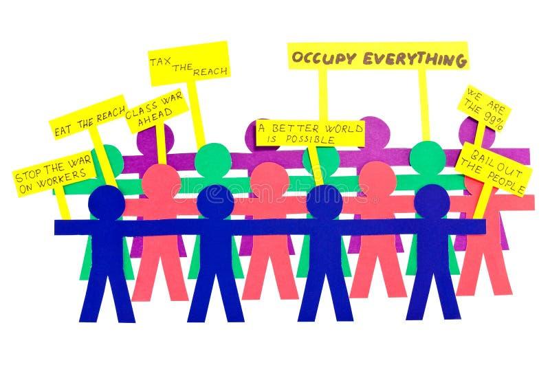 Gente en la huelga imágenes de archivo libres de regalías