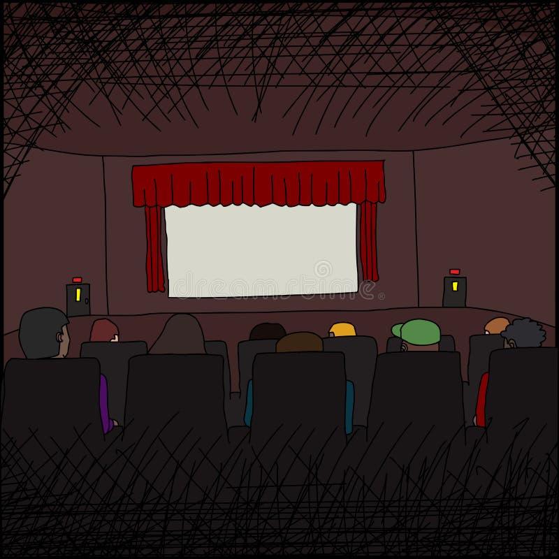 Download Gente en las películas ilustración del vector. Ilustración de sitio - 41915455