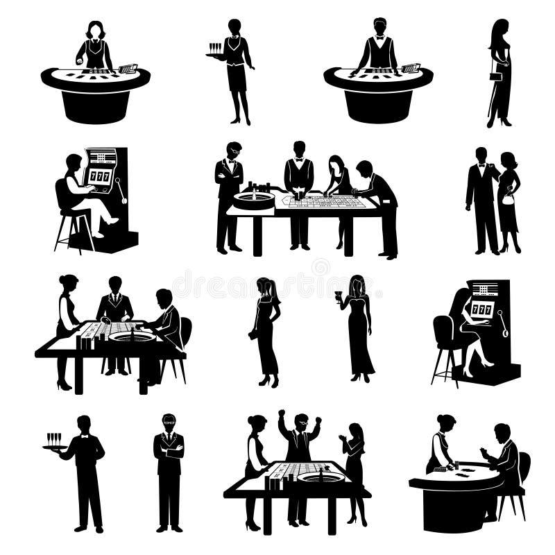 Gente en negro del casino libre illustration
