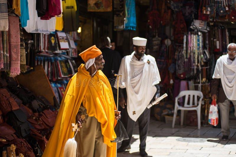 Gente etíope en Jerusalén, Israel fotografía de archivo