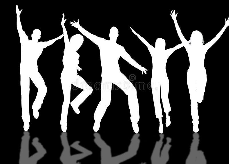Gente feliz libre illustration