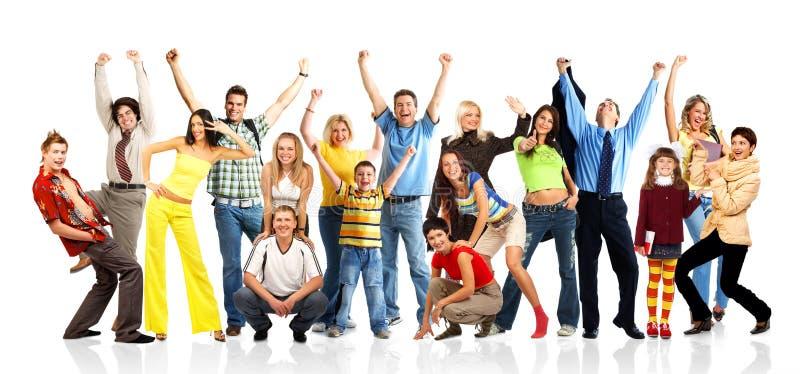 Gente feliz imagenes de archivo