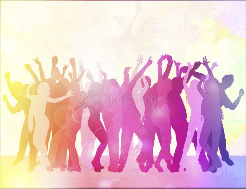 Gente feliz del baile libre illustration