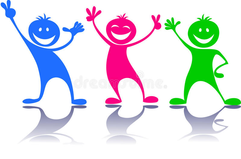 Gente feliz, niños libre illustration