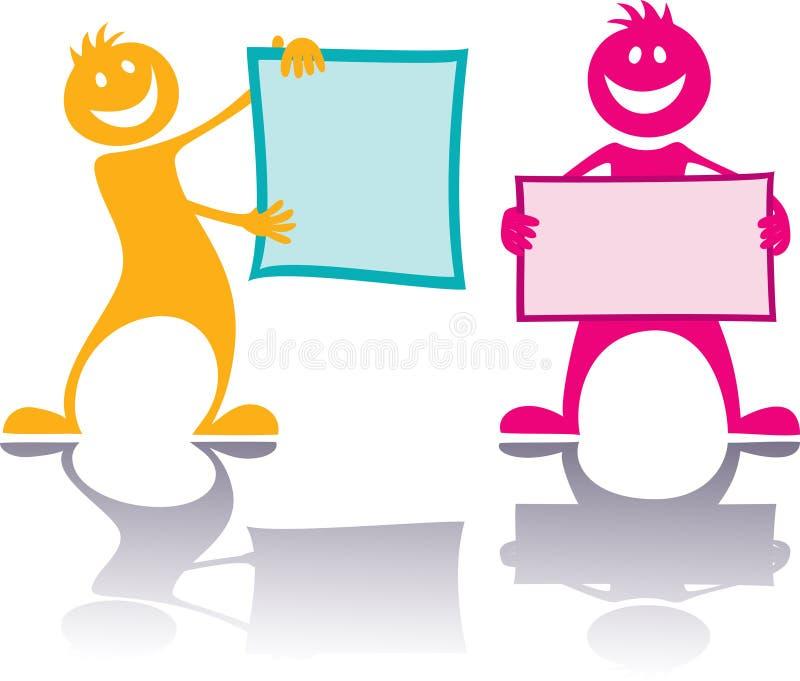 Gente feliz, niños stock de ilustración