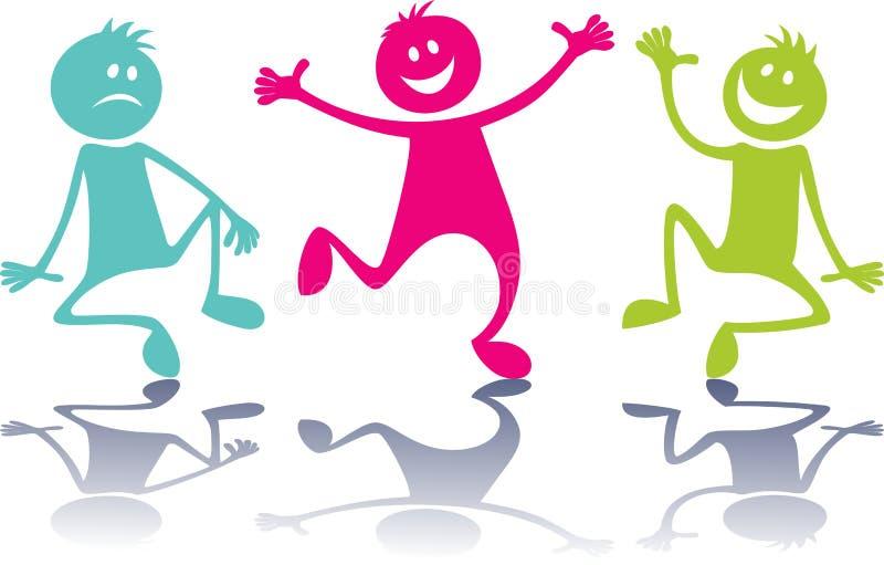 Gente feliz, niños ilustración del vector