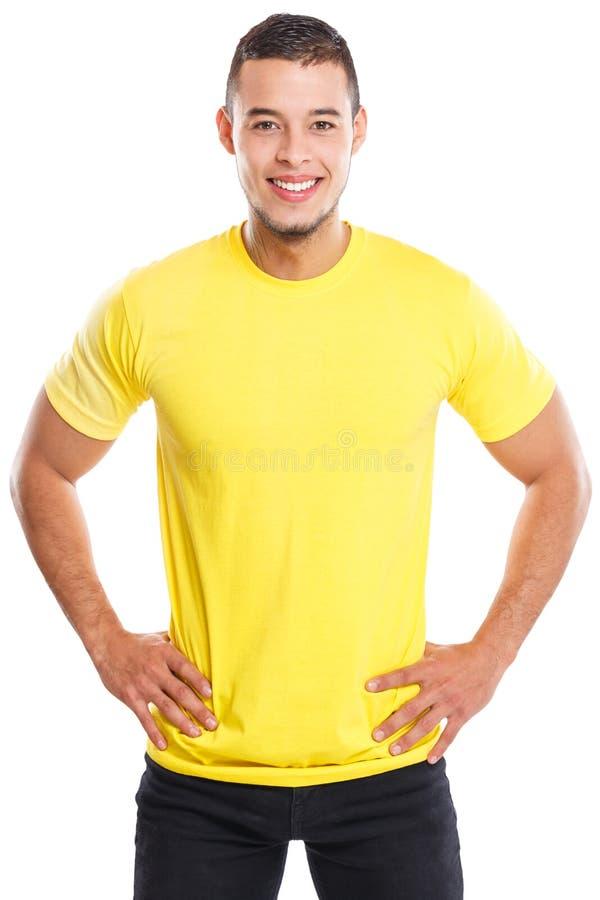 Gente feliz sonriente del retrato del hombre latino joven aislada en blanco fotografía de archivo