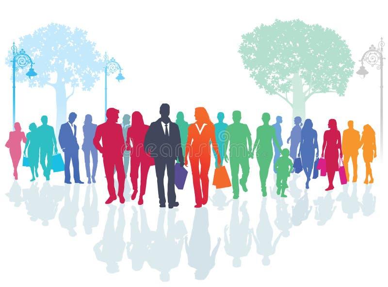 Gente hacia fuera para un paseo libre illustration