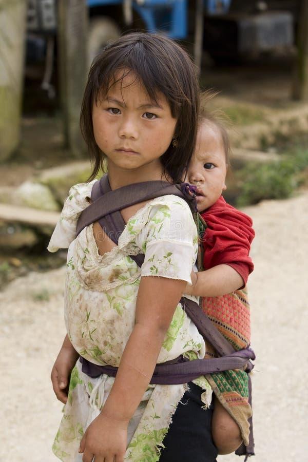 Gente, hermanos y hermanas de Hmong en Laos foto de archivo