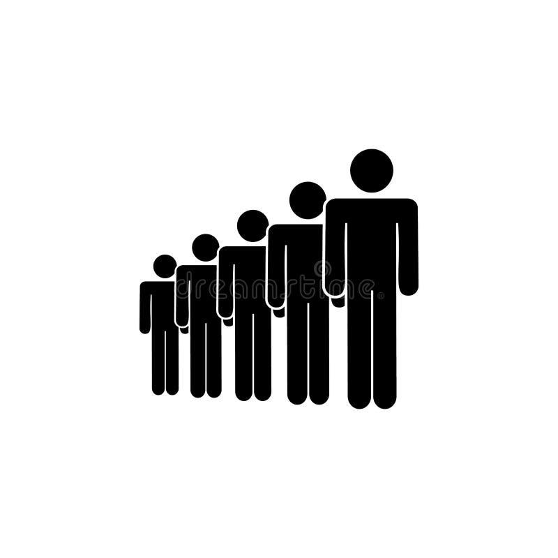 gente, icono espeso Elemento de un icono de grupo de personas Icono superior del diseño gráfico de la calidad Muestras e icono de libre illustration