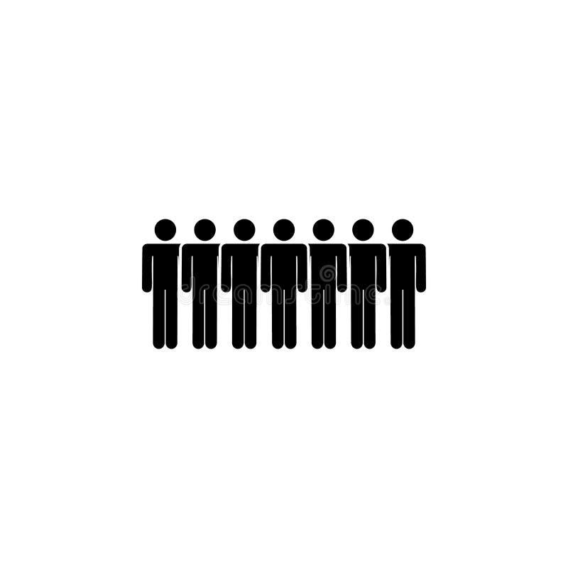 gente, icono espeso Elemento de un icono de grupo de personas Icono superior del diseño gráfico de la calidad Muestras e icono de stock de ilustración