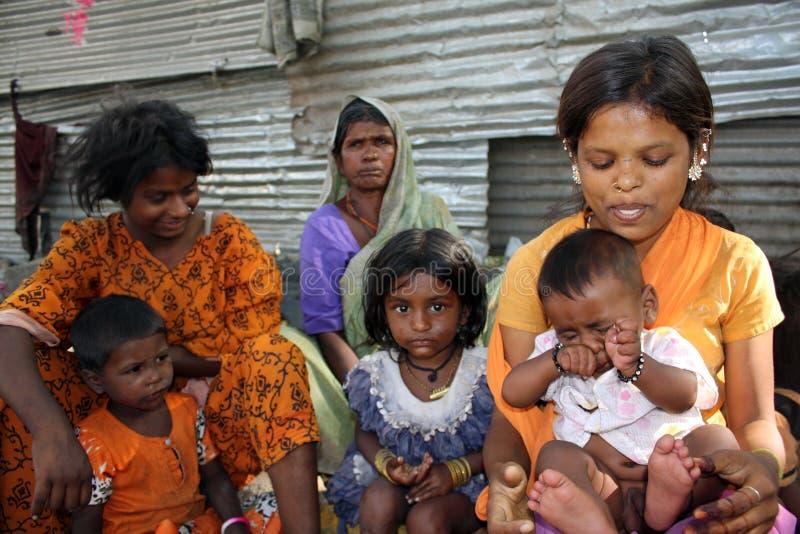 Gente indiana povera fotografie stock libere da diritti