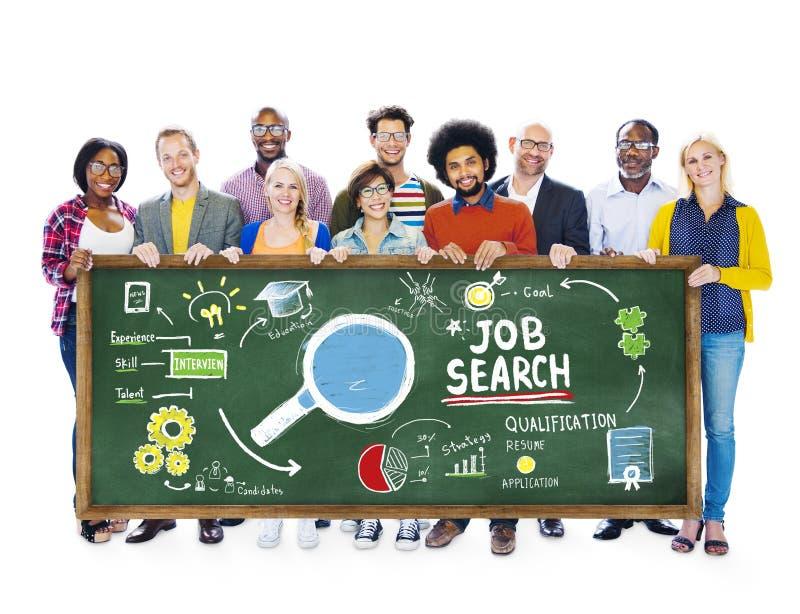 Gente Job Search Searching Togetherness Concept de la pertenencia étnica fotografía de archivo