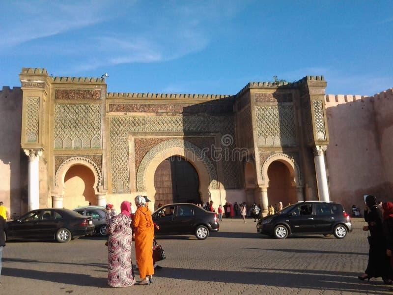 Gente leggera di marocco dei meknes del cielo fotografie stock libere da diritti
