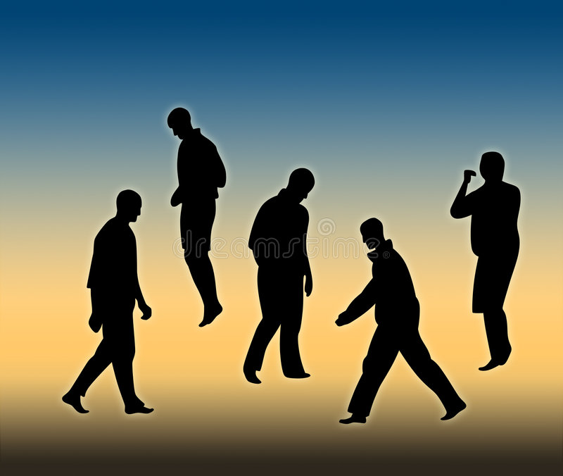 Gente móvil libre illustration