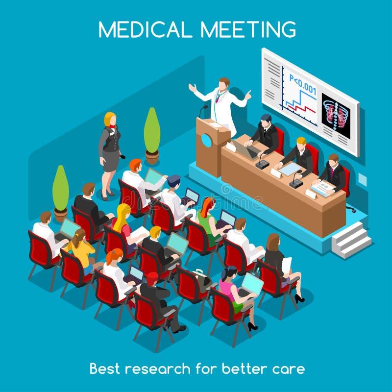 Gente medica di riunione isometrica royalty illustrazione gratis
