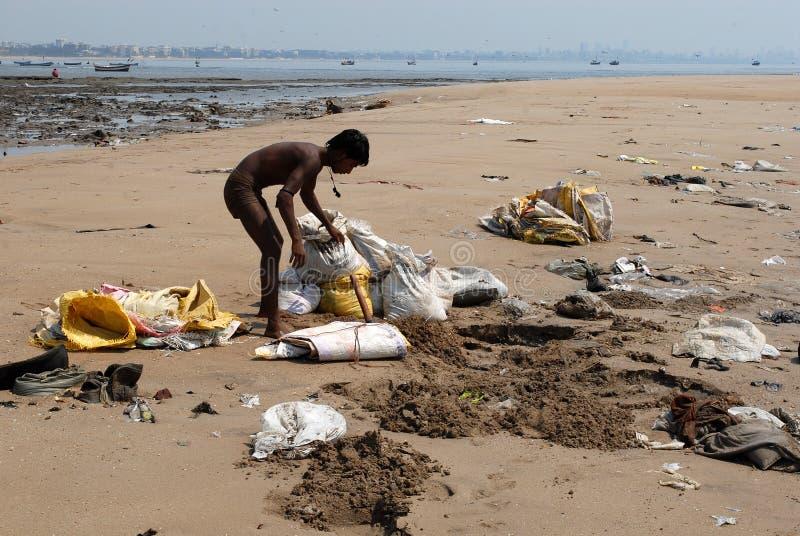Gente migratore di Mumbai immagini stock