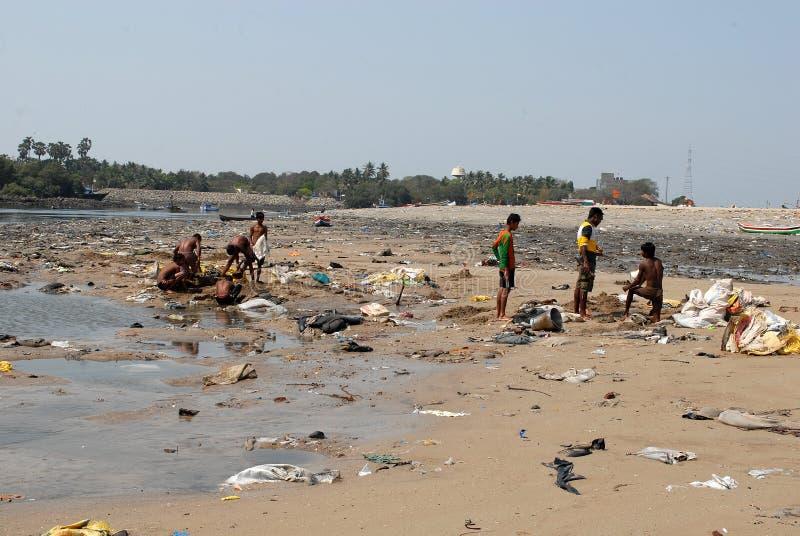 Gente migratore di Mumbai fotografia stock libera da diritti