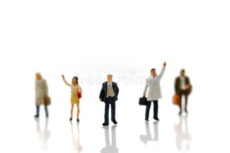 Gente miniatura: Affare Person Candidate People Group impieghi fotografia stock