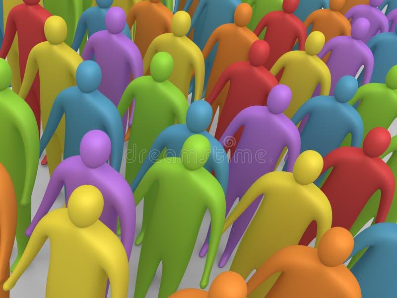 Gente multicolora #4 stock de ilustración