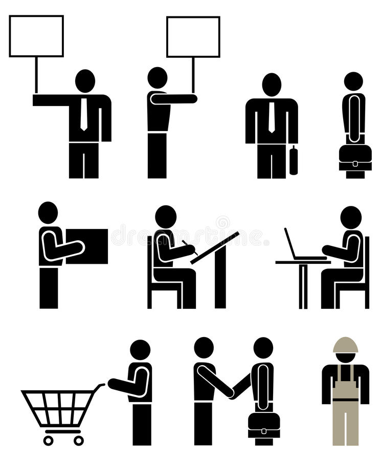 Gente - pictograma del vector stock de ilustración