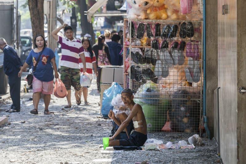 Gente pobre en Bangkok fotografía de archivo libre de regalías
