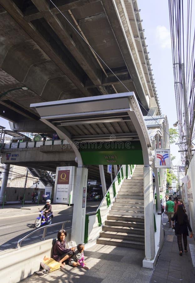 Gente pobre en Bangkok fotos de archivo libres de regalías